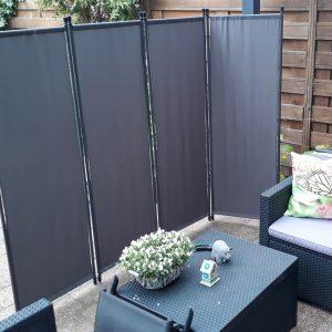 windscherm tuin zwart